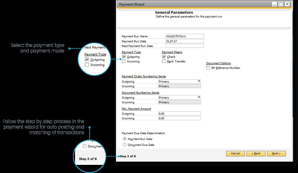 SAP B1 banking